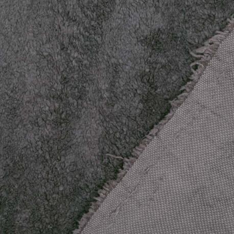 Tissu petite fourrure doudou x 50cm - Marron brun