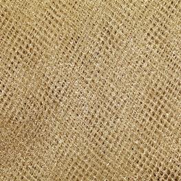 Tissu résille souple x50cm - Or