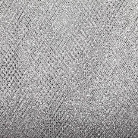 Tissu résille souple x50cm - Argent