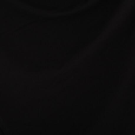 Tissu sweat uni chaud  - Noir