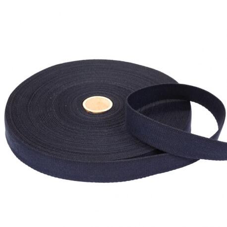 Rouleau sangle coton 20 mètres - Bleu marine