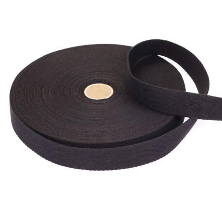 Rouleau sangle coton 20 mètres - Noir