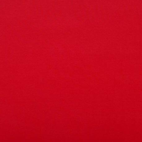Tissu jersey de coton uni  - Rouge