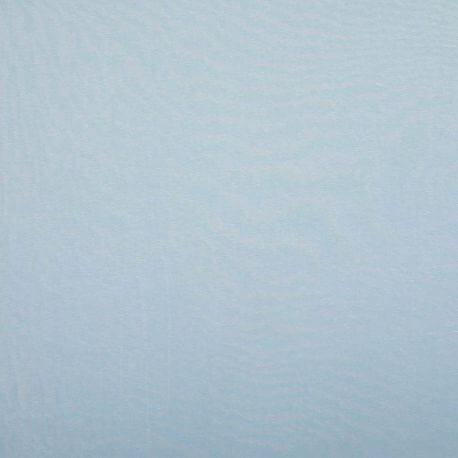 Tissu jersey de coton uni  - Bleu ciel