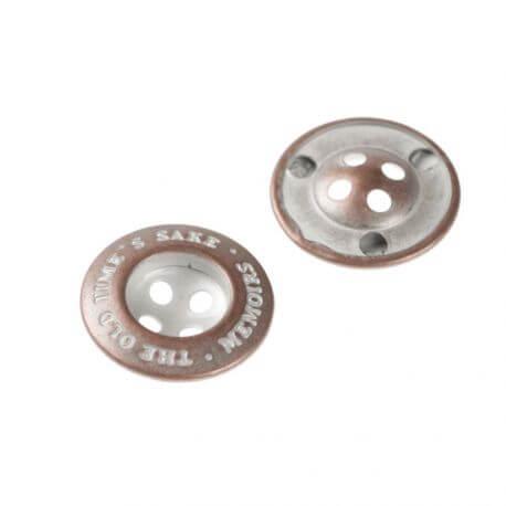Bouton métal bronze rétro à l'unité