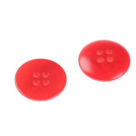 Bouton basique rond - rouge