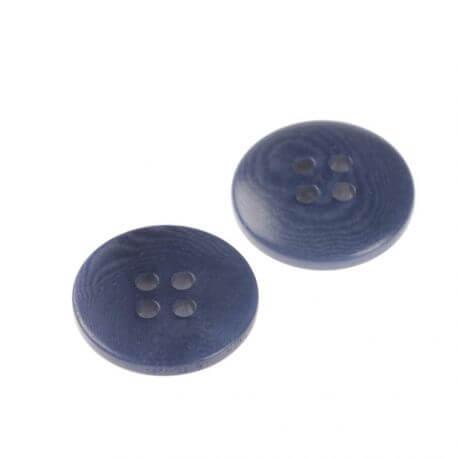 Bouton basique rond - bleu