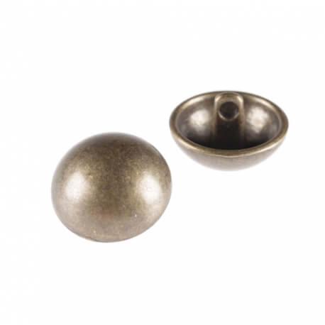 Bouton demi Boule métal mat- 2 tailles, 2 coloris