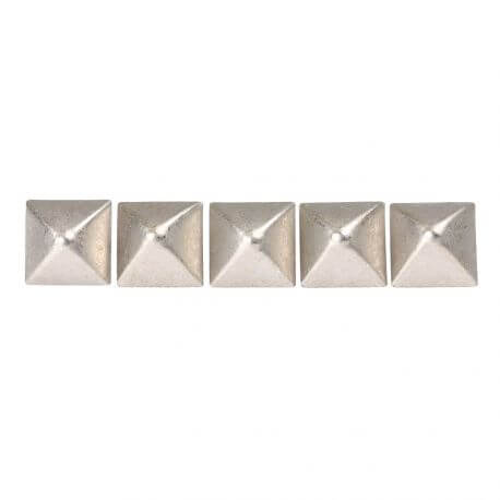 Lot 20 clous tapissier 14mm aluminium mat - Pyramide