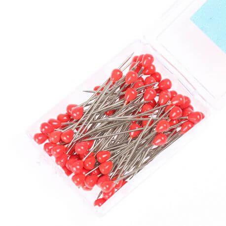 Boîte 100 houzeaux tête plastique rouge 50 mm
