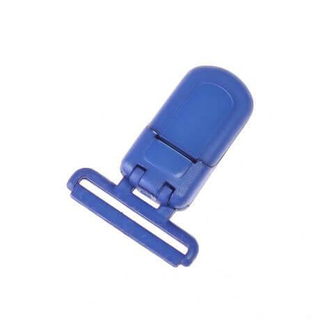Pince tétine ou bretelle plastique - Bleu roi