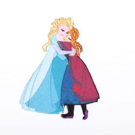 Ecusson Reine des neiges Elsa & Anna - Disney