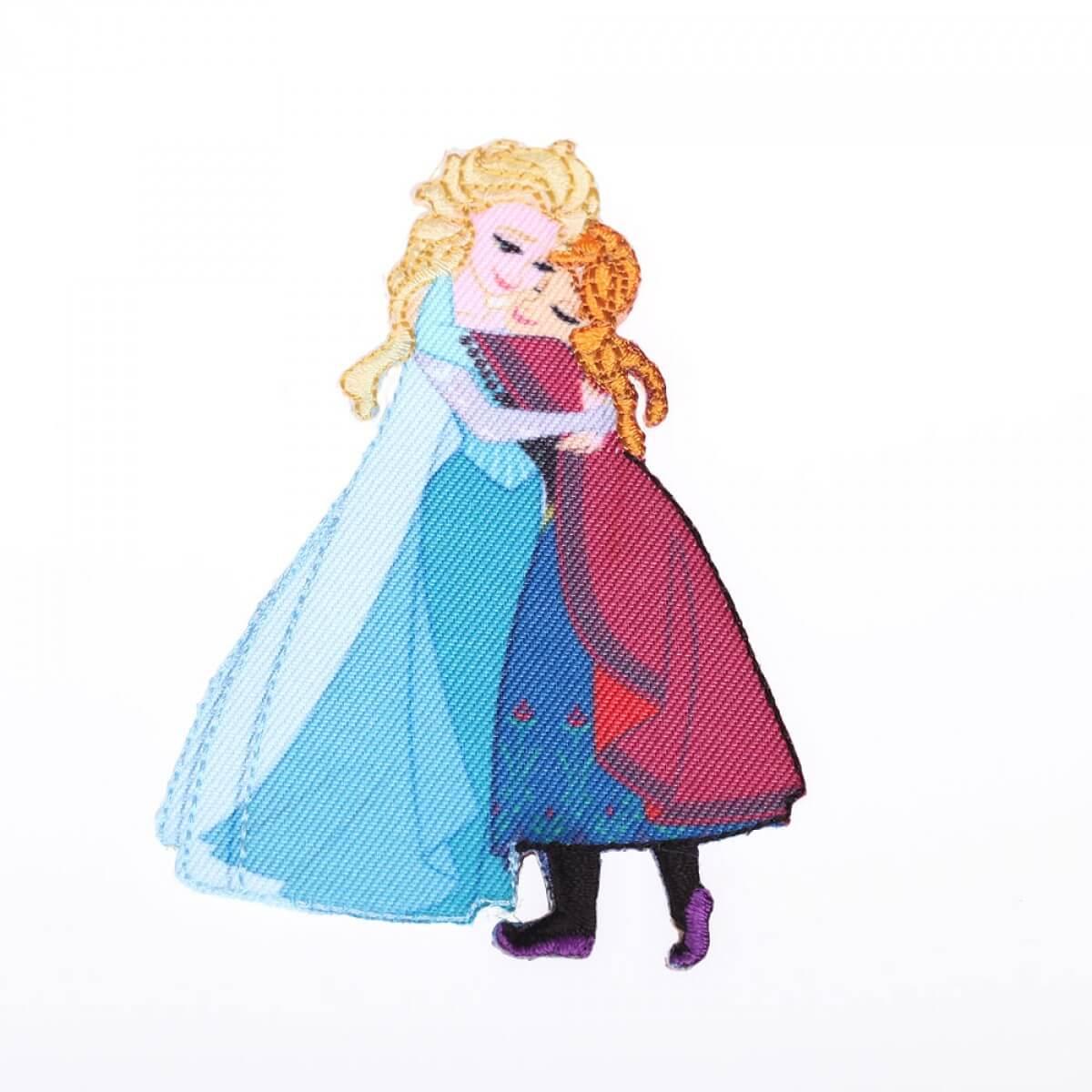 Ecusson reine des neiges elsa anna disney mercerie car fil - Anna elsa reine des neiges ...