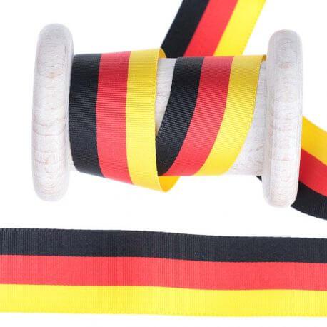 Ruban drapeau Allemagne au mètre - 25mm