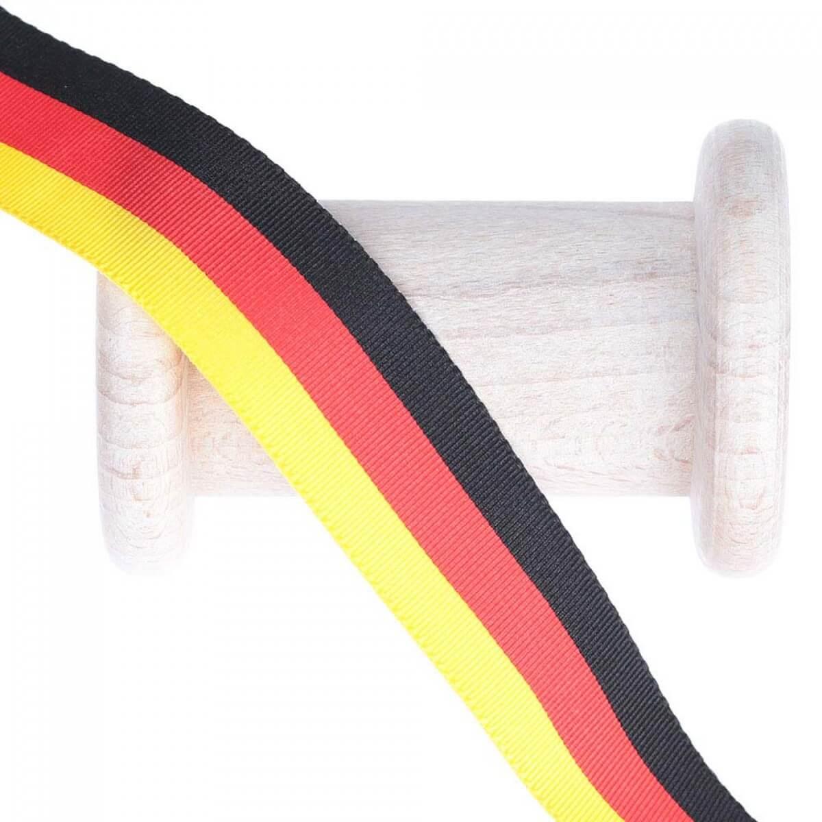 Ruban Drapeau Allemagne 5 Metres Noir Rouge Jaune Mercerie Carefil