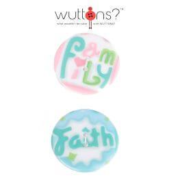 Assortiment 2 boutons LOVE & faith - 34mm