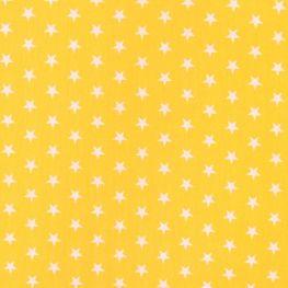 Tissu étoile blanche & jaune