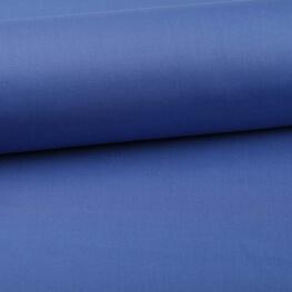 Tissu popeline coton unie bleu roi