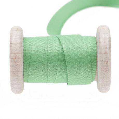 Ruban sergé coton au mètre - Vert shamrock