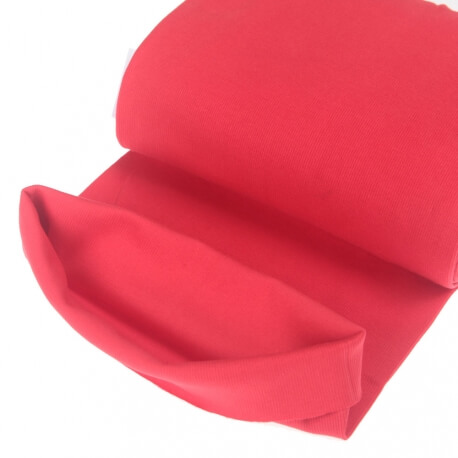 Tissu bord-côte tubulaire  - Rouge