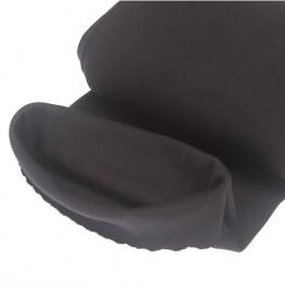 Tissu bord-côte tubulaire  - Noir