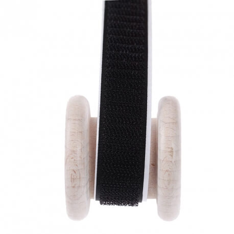 Velcro noir adhésif au mètre