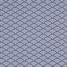 Tissu coton cretonne sushis x50cm - Bleu