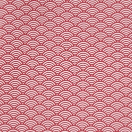Tissu coton cretonne sushis x50cm - Rouge
