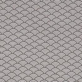 Tissu coton cretonne sushis x50cm - Gris