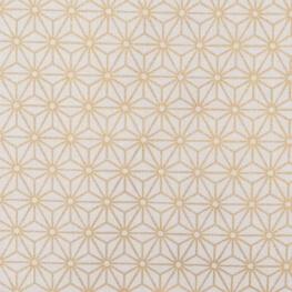 Tissu coton cretonne tokyo x50cm - Or & blanc