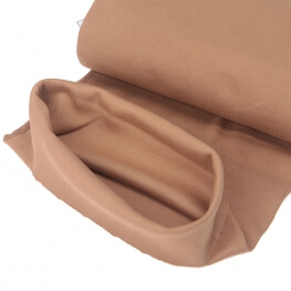 Tissu bord-côte tubulaire  - Marron clair