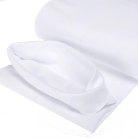 Tissu bord-côte tubulaire  - Blanc