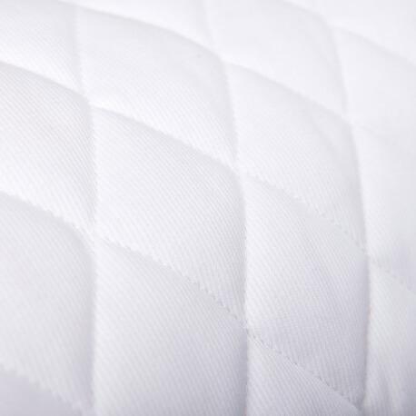 Tissu piqué de coton matelassé uni blanc x50cm
