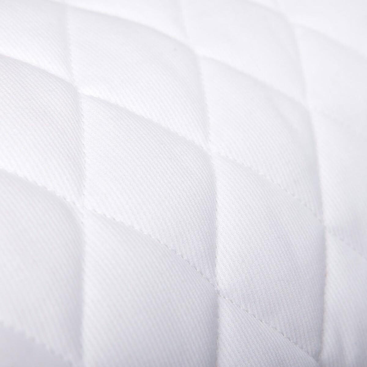Tissu piqu de coton matelass uni blanc mercerie car fil - Tissu matelasse pour bebe ...