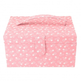 Boîte à couture fantaisie rose - Boutons