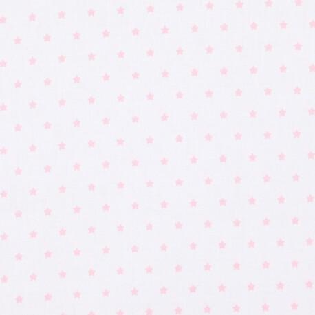 Tissu petite étoile rose & ivoire