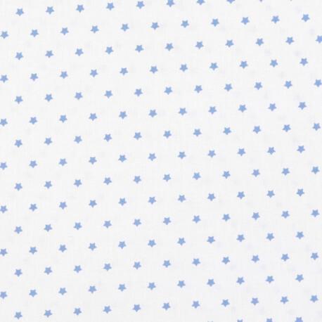 Tissu petite étoile bleu & ivoire