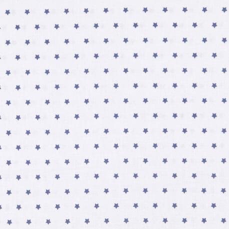 Tissu petite étoile bleu marine & ivoire