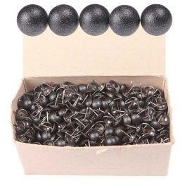 Boîte 1000 clous tapissier noir carbone 11mm