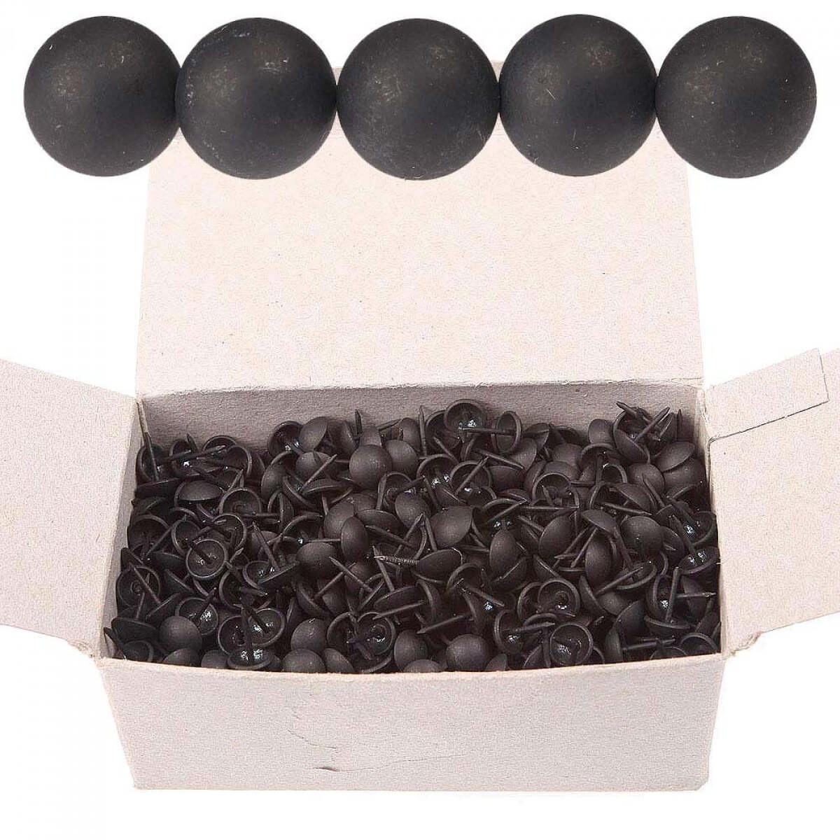 bo te de 1000 clous de tapissier 11 mm noir mat houl s. Black Bedroom Furniture Sets. Home Design Ideas