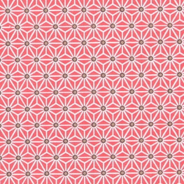 Tissu coton cretonne saki x50cm - Rouge