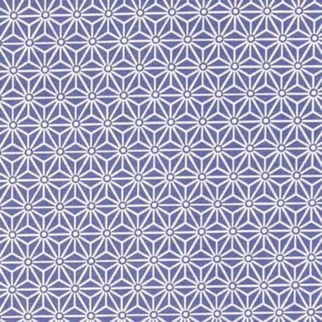 Tissu coton cretonne saki x50cm - Bleu