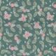 Tissu adhésif A4 petite baie - Rose & vert