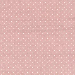 Tissu adhésif A4 à pois blanc - Rose