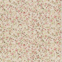 Tissu adhésif A4 fleuri - Rose & vert