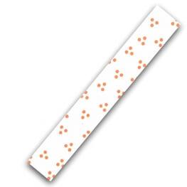 Rouleau ruban adhésif en tissu trio de pois - Beige & rouille