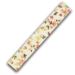 Rouleau ruban adhésif en tissu fleuri - Saumon & beige