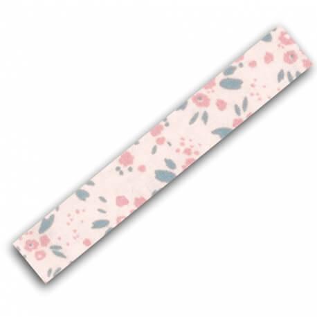 Rouleau ruban adhésif en tissu fleuri - Rose