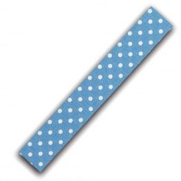 Rouleau ruban adhésif en tissu à pois blanc - Bleu