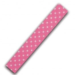 Rouleau ruban adhésif en tissu à pois blanc - rose